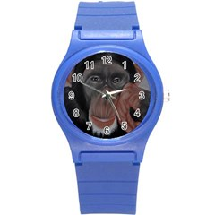 The Thinker Round Plastic Sport Watch (s) by timelessartoncanvas