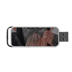The Thinker Portable Usb Flash (one Side) by timelessartoncanvas