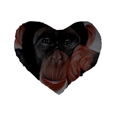The Thinker Standard 16  Premium Heart Shape Cushions by timelessartoncanvas