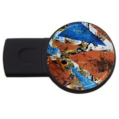 Triangles Usb Flash Drive Round (2 Gb)  by timelessartoncanvas