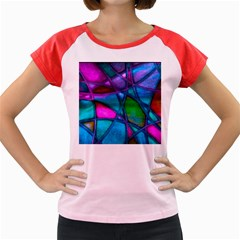 Imposant Abstract Teal Women s Cap Sleeve T Shirt by ImpressiveMoments