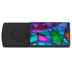 Imposant Abstract Teal Usb Flash Drive Rectangular (4 Gb)  by ImpressiveMoments