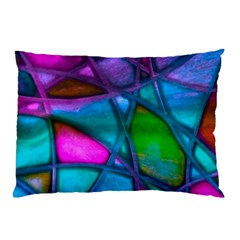 Imposant Abstract Teal Pillow Cases (two Sides)