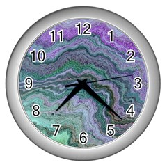 Keep Calm Teal Wall Clocks (silver)  by ImpressiveMoments