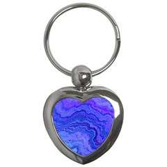 Keep Calm Blue Key Chains (heart)  by ImpressiveMoments