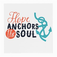 Hope Anchors The Soul Nautical Quote Medium Glasses Cloth by CraftyLittleNodes