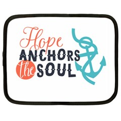 Hope Anchors The Soul Nautical Quote Netbook Case (xxl)  by CraftyLittleNodes