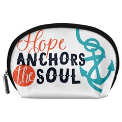 Hope Anchors The Soul Nautical Quote Accessory Pouches (large)  by CraftyLittleNodes