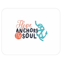 Hope Anchors The Soul Nautical Quote Double Sided Flano Blanket (medium)  by CraftyLittleNodes