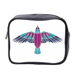 Stained Glass Bird Illustration  Mini Toiletries Bag 2-Side Front