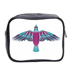 Stained Glass Bird Illustration  Mini Toiletries Bag 2-Side Back