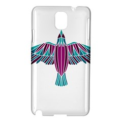 Stained Glass Bird Illustration  Samsung Galaxy Note 3 N9005 Hardshell Case