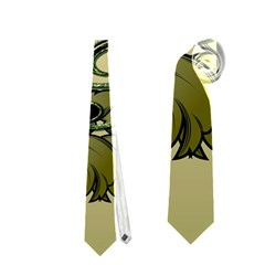 Decorative Clef With Damask In Soft Green Neckties (one Side)  by FantasyWorld7