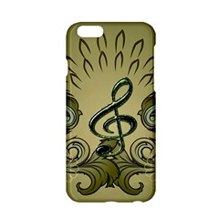 Decorative Clef With Damask In Soft Green Apple Iphone 6/6s Hardshell Case by FantasyWorld7