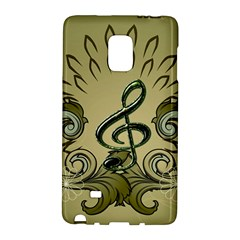 Decorative Clef With Damask In Soft Green Galaxy Note Edge by FantasyWorld7