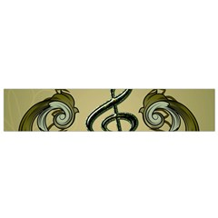 Decorative Clef With Damask In Soft Green Flano Scarf (small)  by FantasyWorld7