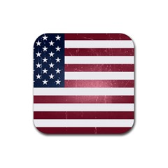 Usa3 Rubber Square Coaster (4 Pack)  by ILoveAmerica