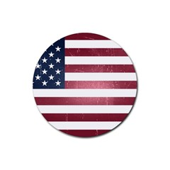 Usa3 Rubber Coaster (round)  by ILoveAmerica