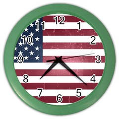 Usa3 Color Wall Clocks by ILoveAmerica
