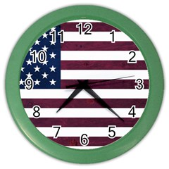 Usa4 Color Wall Clocks by ILoveAmerica