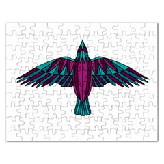 Stained Glass Bird Illustration  Rectangular Jigsaw Puzzl