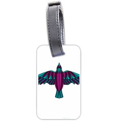 Stained Glass Bird Illustration  Luggage Tags (one Side)  by carocollins