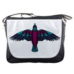 Stained Glass Bird Illustration  Messenger Bags by carocollins