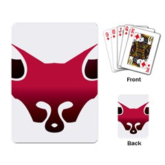 Fox Logo Red Gradient  Playing Card by carocollins