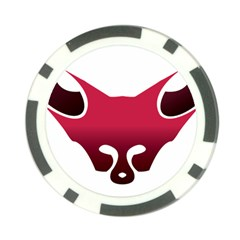 Fox Logo Red Gradient  Poker Chip Card Guards by carocollins