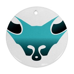 Fox Logo Blue Gradient Round Ornament (two Sides)  by carocollins