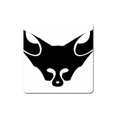 Black Fox Logo Square Magnet by carocollins