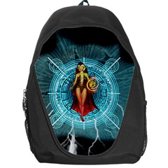 Beautiful Witch With Magical Background Backpack Bag by FantasyWorld7