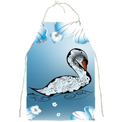 Wonderful Swan Made Of Floral Elements Full Print Aprons by FantasyWorld7
