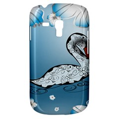 Wonderful Swan Made Of Floral Elements Samsung Galaxy S3 Mini I8190 Hardshell Case by FantasyWorld7