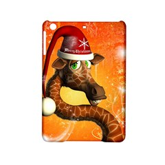 Funny Cute Christmas Giraffe With Christmas Hat Ipad Mini 2 Hardshell Cases by FantasyWorld7