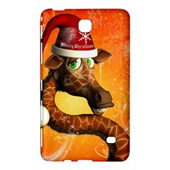 Funny Cute Christmas Giraffe With Christmas Hat Samsung Galaxy Tab 4 (8 ) Hardshell Case  by FantasyWorld7