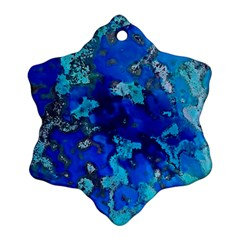 Cocos Blue Lagoon Snowflake Ornament (2 Side) by CocosBlue