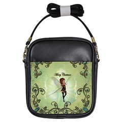 Cute Elf Playing For Christmas Girls Sling Bags by FantasyWorld7