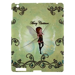 Cute Elf Playing For Christmas Apple Ipad 3/4 Hardshell Case by FantasyWorld7
