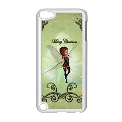 Cute Elf Playing For Christmas Apple Ipod Touch 5 Case (white) by FantasyWorld7