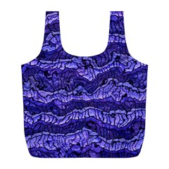 Alien Skin Blue Full Print Recycle Bags (l)  by ImpressiveMoments