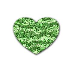 Alien Skin Green Heart Coaster (4 Pack)  by ImpressiveMoments