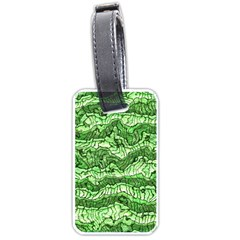 Alien Skin Green Luggage Tags (one Side)  by ImpressiveMoments