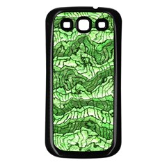 Alien Skin Green Samsung Galaxy S3 Back Case (black) by ImpressiveMoments