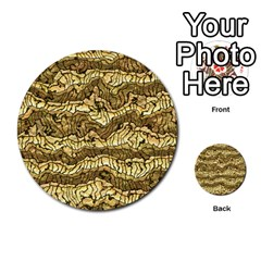 Alien Skin Hot Golden Multi Purpose Cards (round)  by ImpressiveMoments