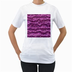 Alien Skin Hot Pink Women s T Shirt (white) (two Sided) by ImpressiveMoments
