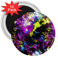 Colour Splash G264 3  Magnets (10 Pack)  by MedusArt