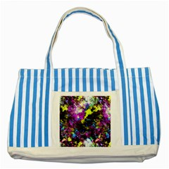 Colour Splash G264 Striped Blue Tote Bag  by MedusArt