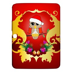 Funny, Cute Christmas Owl  With Christmas Hat Samsung Galaxy Tab 3 (10 1 ) P5200 Hardshell Case  by FantasyWorld7