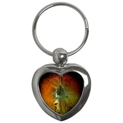 Beautiful Abstract Floral Design Key Chains (heart)  by FantasyWorld7